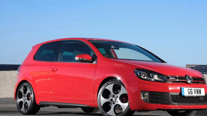 2012 Volkswagen Golf VI GTI In Red Side Front Pose